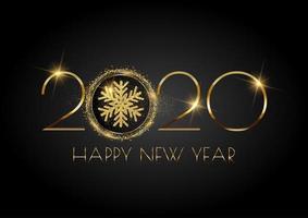 Glittery guten Rutsch ins Neue Jahr-Hintergrund mit Schneeflocke