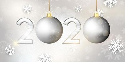 Frohes neues Jahr Christbaumkugel Banner