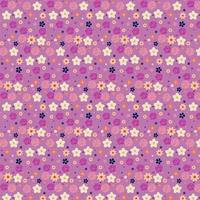 lila och gul blommig bakgrundsdesign vektor