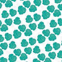 grön ros mönster design vektor