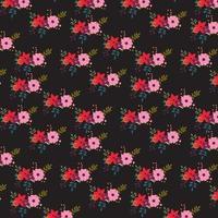 Mörk blommig bakgrundsdesign vektor