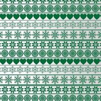 Weihnachtsmuster mit Herzen und Schneeflocken