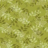 Grön sömlös höstmönster med lönnlöv