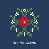 Weihnachtsblumen-Pixel-Kunst