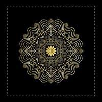 Elegante Mandala-Hintergrund-Design-Schablone