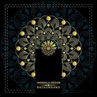 Mycket trevlig Mandala Bakgrundsvektordesign