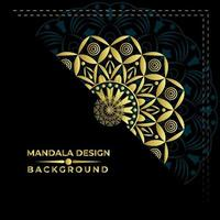 Fin Mandala Bakgrundsvektordesign