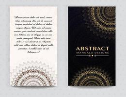 Snygg kortdesign med mandala vektor