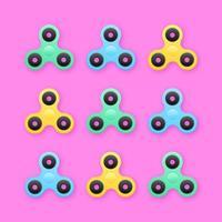 Trendig Fidget Spinners Pop-bakgrund