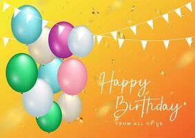 Alles- Gute zum Geburtstagfeier-Typografieentwurf für Grußkarte