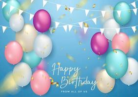Typografidesign för lycklig födelsedag för gratulationskort