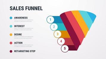 Försäljningstrattvektor Infographic vektor