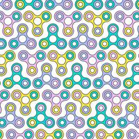 Flache Linie Zappeln Spinner Seamless Pattern vektor