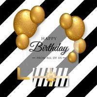 Typografidesign för lycklig födelsedag för gratulationskort, affisch eller banner vektor