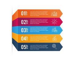 Daten Infografik mit grafischen Firmeninformationen