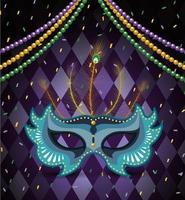 Halskettenkugeln und -maske zur Karnevalfeier