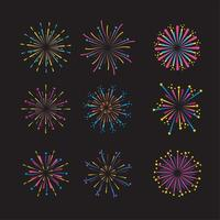 Setze Feuerwerk Nachtdekoration auf Event