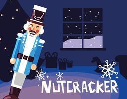 nutcracker general med träd jul vektor