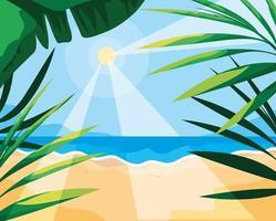 Sommar och tropiska blad design