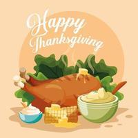 Turkiet middag på tacksägelsedagen vektor