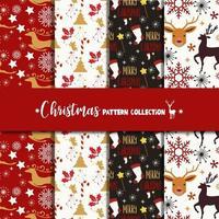Weihnachtsmuster-Sammlungssatz