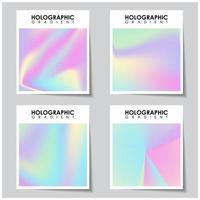 holografisk flygblad bakgrund uppsättning