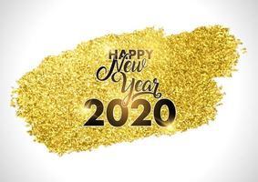 Goldglitterstreifen guten Rutsch ins Neue Jahr-Entwurf vektor