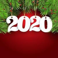 Bakgrund för gott nytt år med hängande nummer vektor