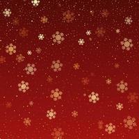 Weihnachtshintergrund von fallenden Schneeflocken vektor