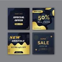 Verkauf Social Media Post Sammlung