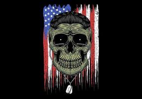 Schädelkopf der amerikanischen Armee vektor