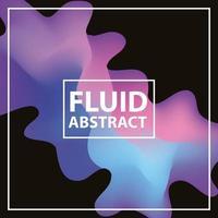 flüssiger abstrakter Hintergrund vektor