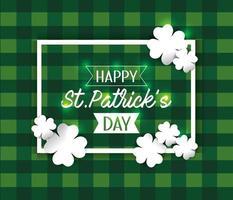 St Patrick emblem med klöver dekoration