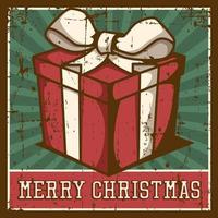 Frohe Weihnacht-Weinlese-Signage-Plakat rustikal vektor