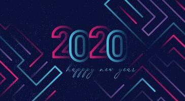 2020 guten Rutsch ins Neue Jahr-Hintergrund vektor