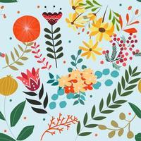 Sömlös vild blomma mönster