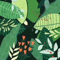 Botanisk tropisk grön lämnar mönster, trädgårdsbegrepp