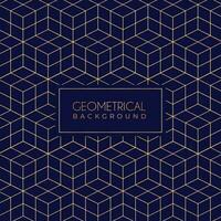 goldenes geometrisches Muster