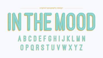 Ljusblå Vintage prickig typografi vektor
