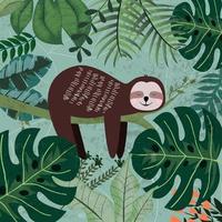 Faultier schlafen im tropischen Dschungel vektor