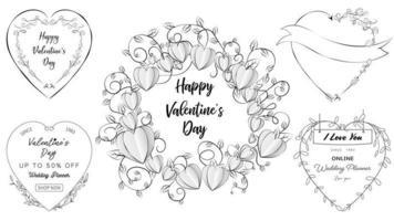 Valentinstag und Hochzeit Elemente vektor