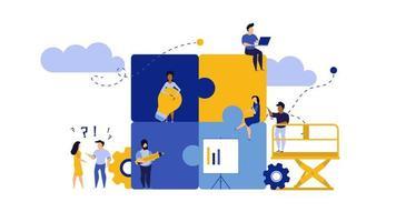 Puzzle Teamarbeit Design