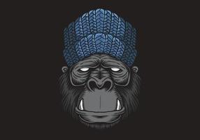Gorilla Kopf Vektor-Illustration vektor