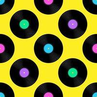 Vinyl Records nahtlose Muster vektor