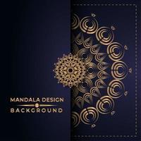 gyllene mandala design vektor