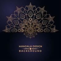 Goldener Mandala-Stern-Entwurf