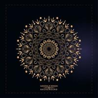 gyllene mandala design