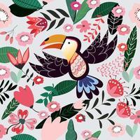 Vogel nahtlose Muster vektor