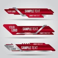 Rote Vorlage Banner Design vektor