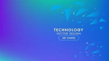 Blå abstrakt teknologibakgrund vektor